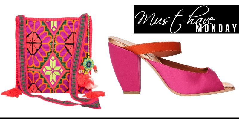 STAR MELA PINK EMBROIDERED BAG RACHEL COMEY HEELS