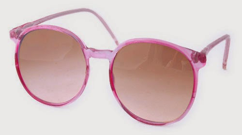 PINK CHEAP VINTAGE STYLE SUNGLASSES