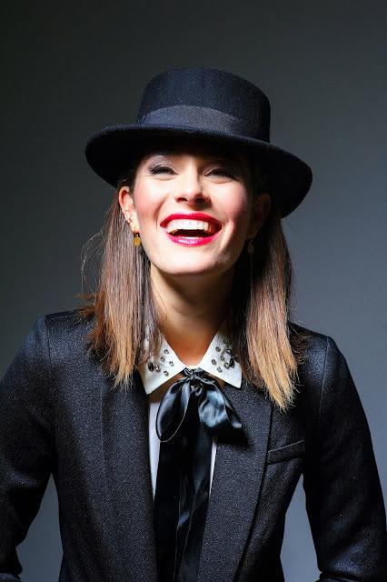 fall fashion editorial black tuxedo women menswear