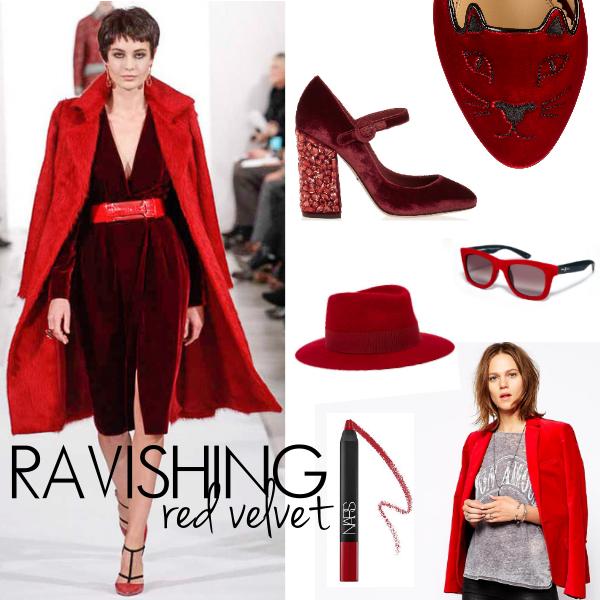 red velvet fall trends must haves runway oscar de la renta