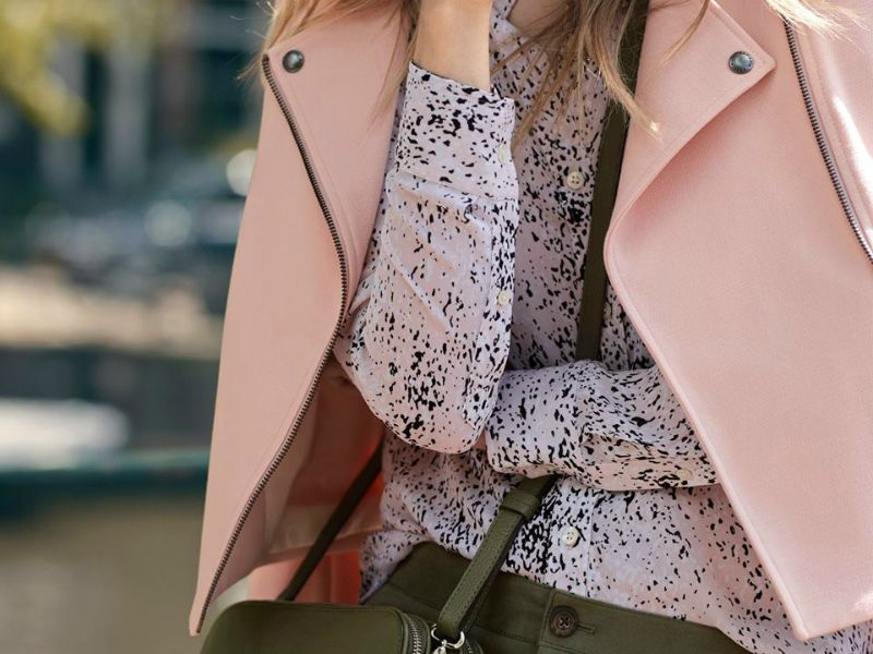 banana republic fall 2015 ootd outfit pink moto cropped jacket