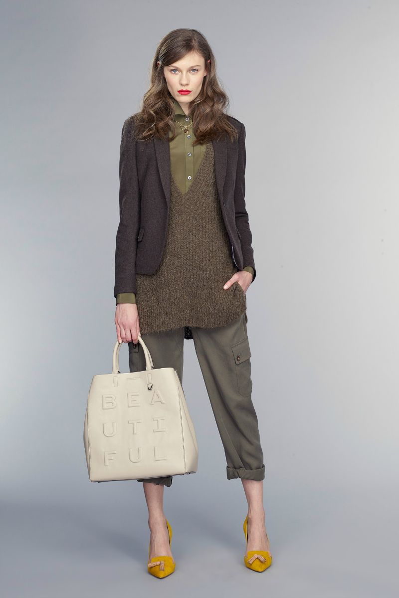 banana republic fall 2015 ootd outfit layered neutrals and bag