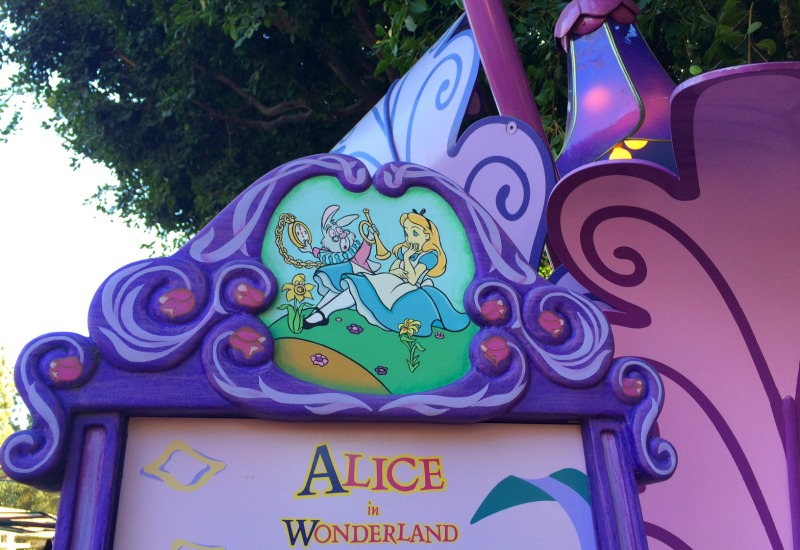 Disneyland California Adventure Halloween Alice in Wonderland Fantasyland