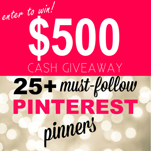 PINTEREST GIVEAWAY CASH CONTEST SWEEPS