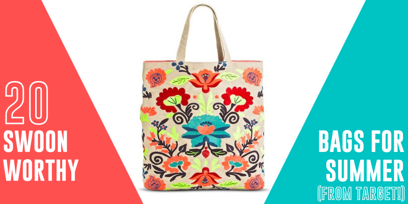 NEON FLORAL EMBROIDERED TOTE BAG
