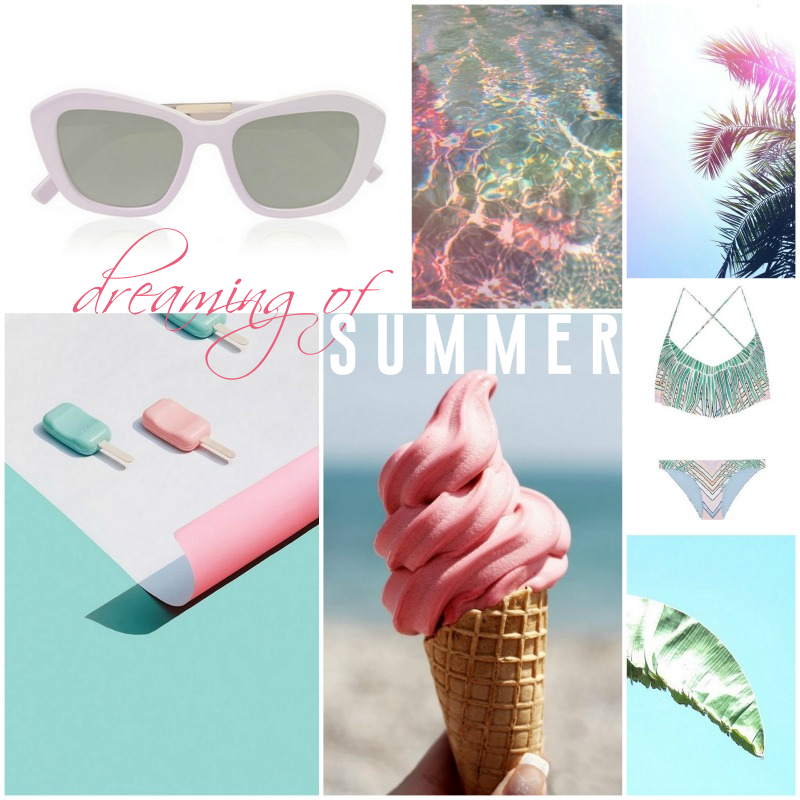 MINT PINK SUMMER INSPIRATION MOOD BOARD MARA HOFFMAN PALM BIKINI
