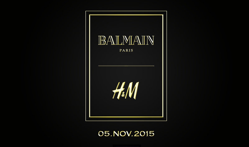 H&M BALMAIN DESIGNER COLLABORATION