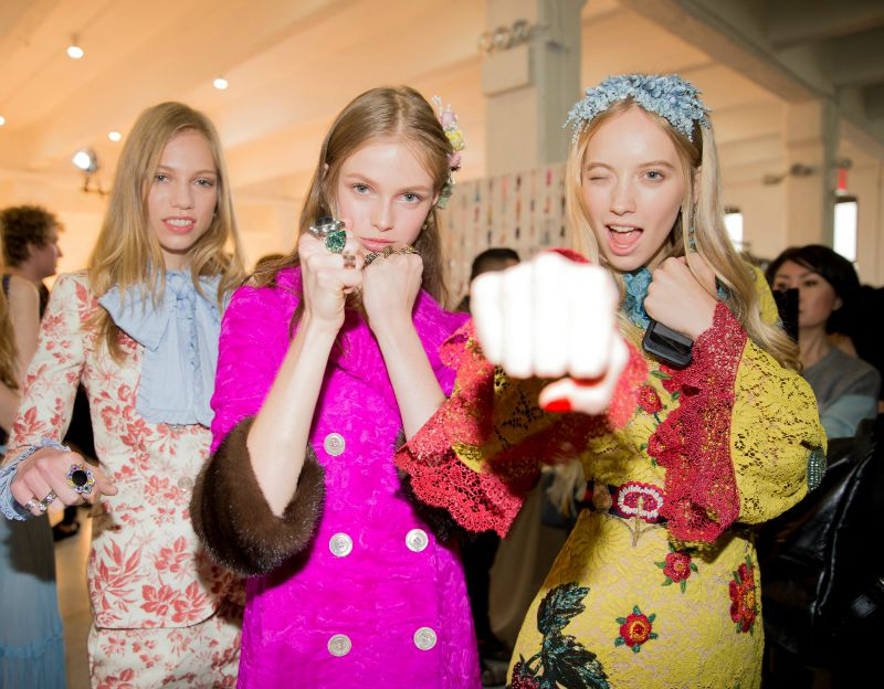gucci resort backstage models 2016 vogue