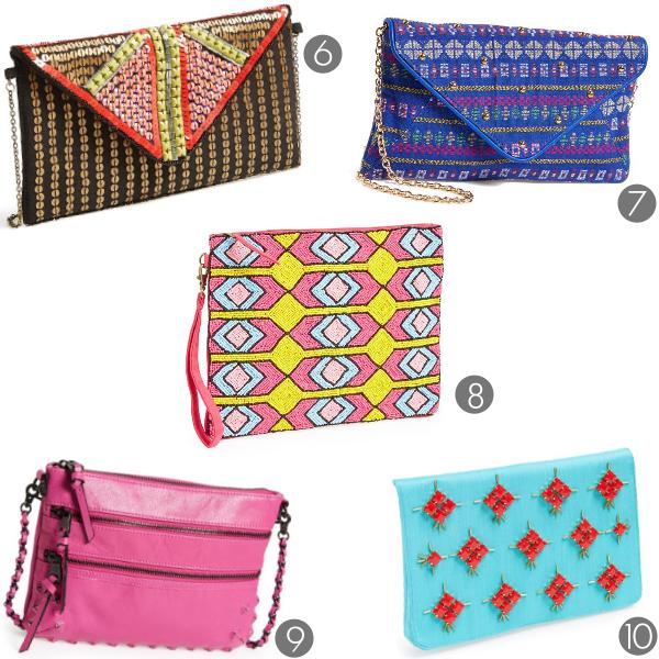 summer clutch bags under $100