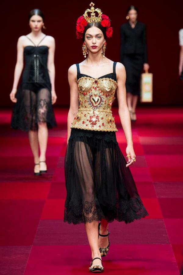 dolce gabbana ss15 runway milan fashion week