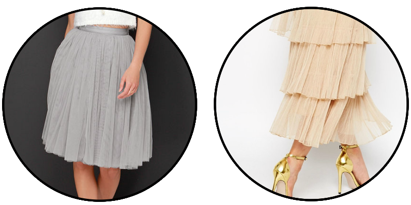 GREY CREAM MAXI TULLE SKIRT