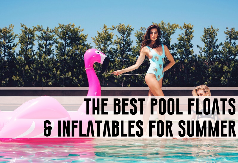 pink flamingo pool floats and inflatables for summer
