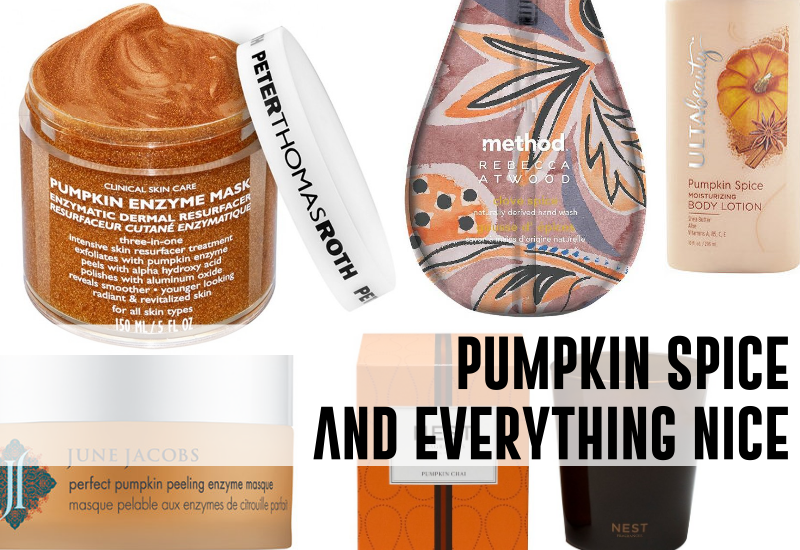 pumpkin spice must haves beauty fall