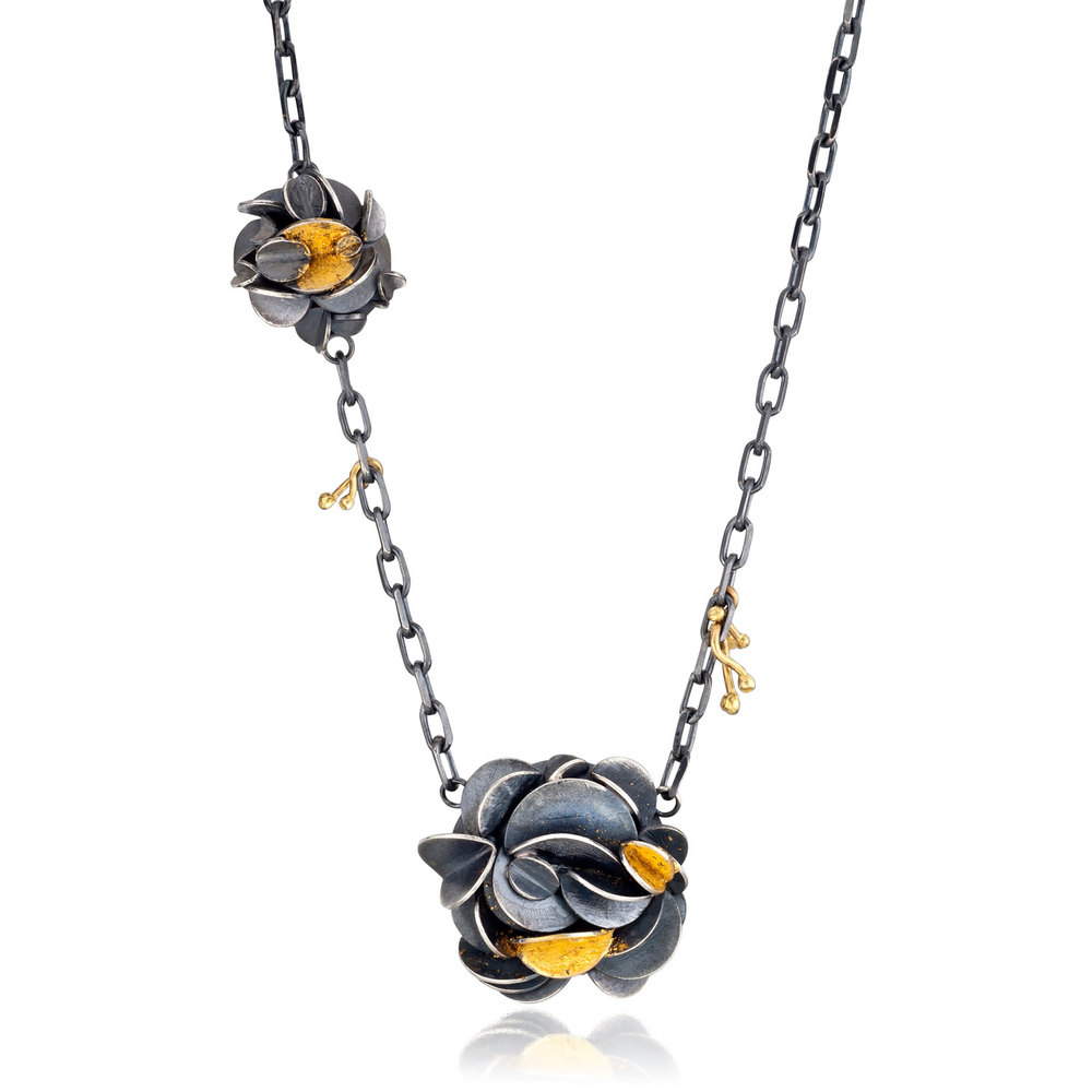 Desert Rose 2 Necklace by Lori Gottlieb