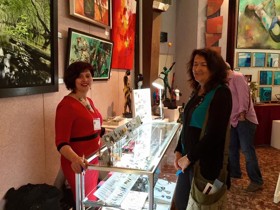 Showcasing my jewelry, surrounded by beautiful art.  Photo courtesy of Art Festival Beth-El Facebook Event: https://www.facebook.com/artfestivalbethel/