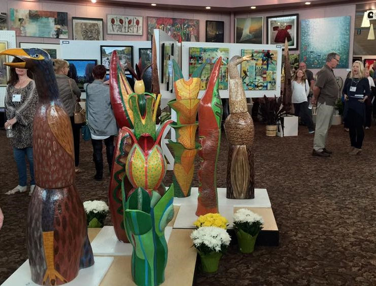 Sculptures on display.  Photo courtesy of Art Festival Beth-El Facebook Event: https://www.facebook.com/artfestivalbethel/