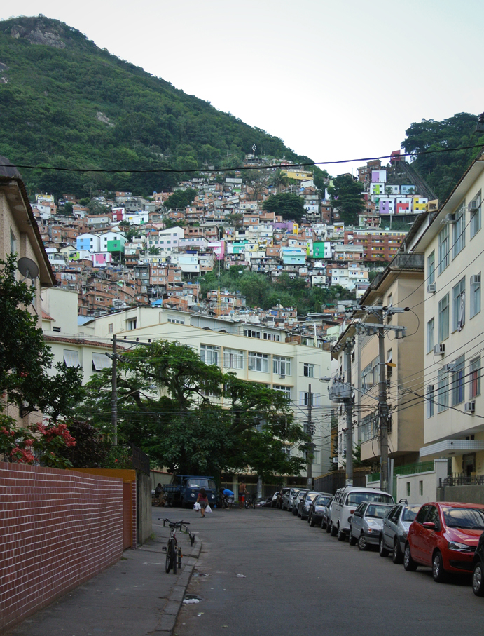 View of Morro Dona Marta from the street below
