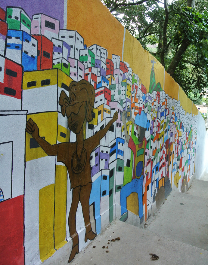 Entry mural on top of the hill - Michael Jackson used the favela as backdrop to his video 'They Don't Care About Us'