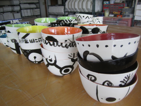 Finished Mala Meal bowls, waiting to be packed up