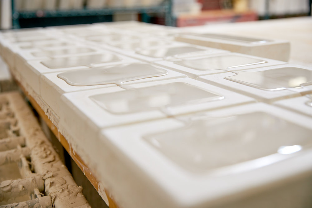 Filled molds on the table waiting for the timer to go off.