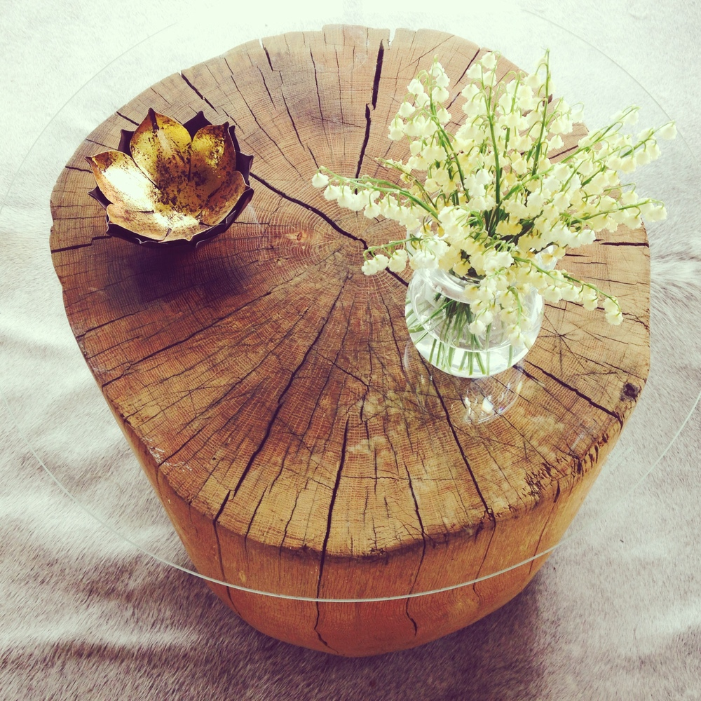 Salvaged Stump Table