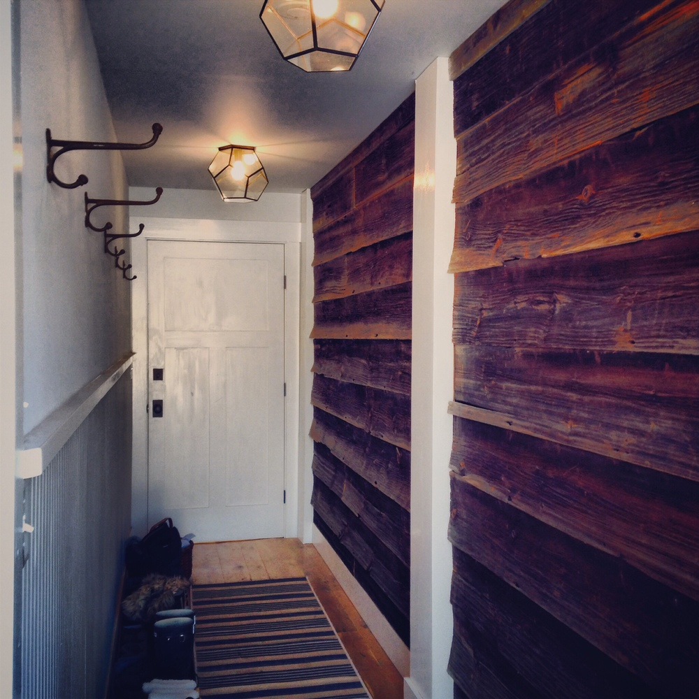 Salvaged Barn Wood Siding Mud Room