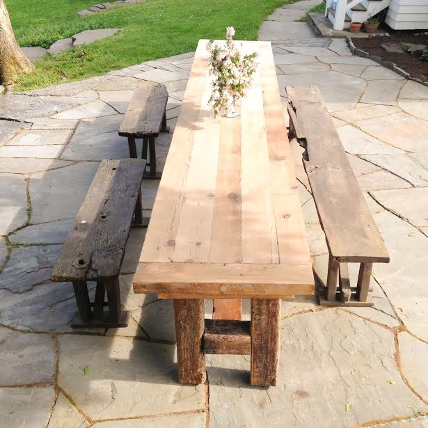 14' Reclaimed Wood Farm Table