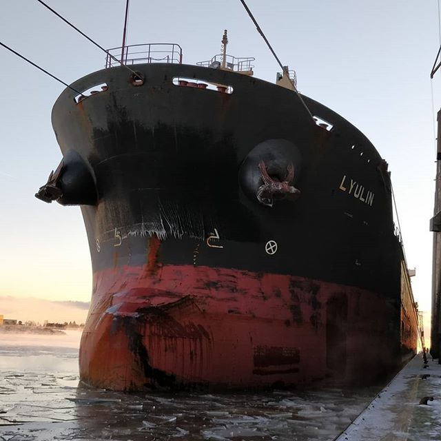MV LYULIN #thunderbay #portofthunderbay #thunderbayshipping #lakesuperior #bulkcarrier #navibulgar