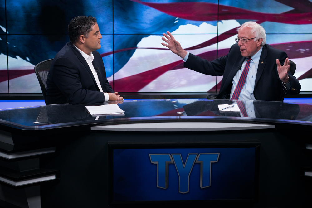 Sen. Sanders stops by The Young Turks for an interview with Cenk Uygur