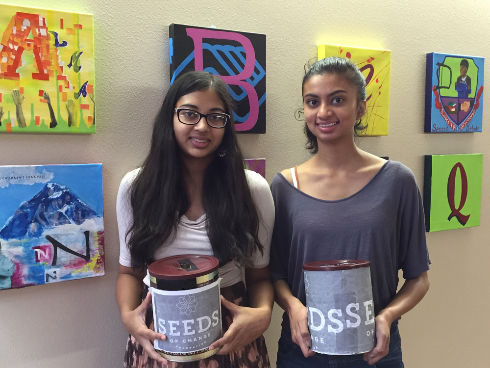 Cherry Creek High School students Apoorva Krishnan and Neya Manavalan. Their impassioned and dedicated efforts helped their school raise considerable funds for the Nepali earthquake relief efforts, and the countless children and families affected.