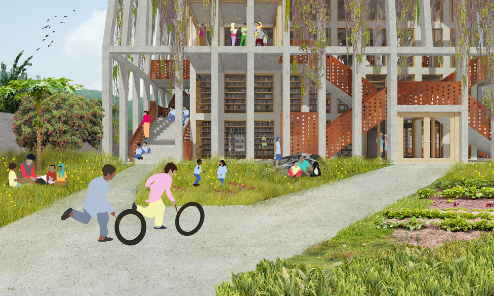 Lali Gurans Orphanage (Illustration Courtesy of MOS Architects, NY)