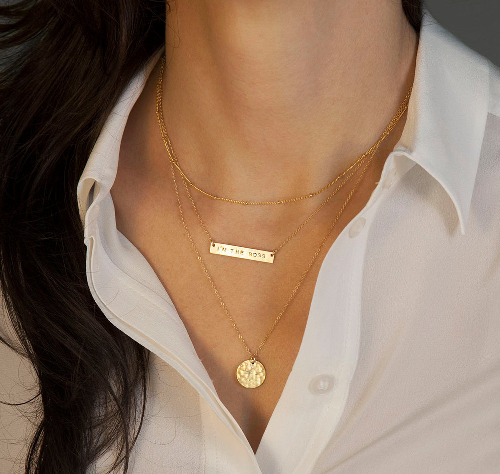 Layer simple necklaces to get a one-of-a-kind piece.