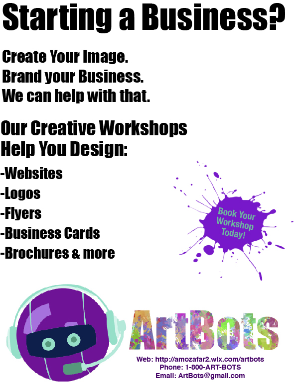A flyer designed for a marketing course.