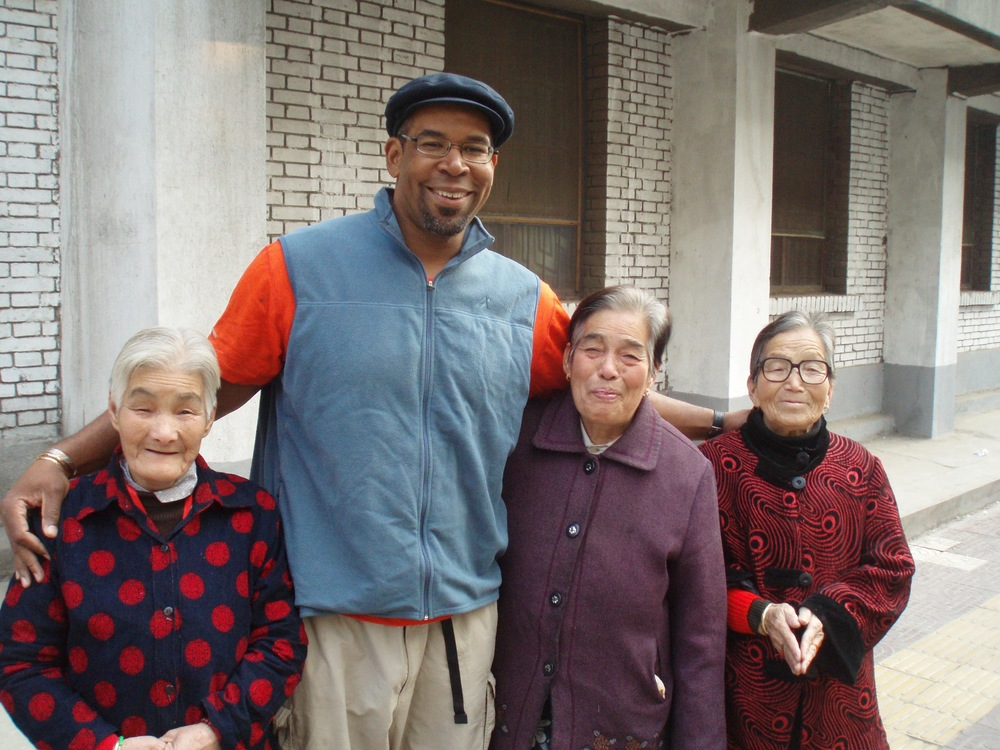 Having a smile with some nice ladies in Xian, China.