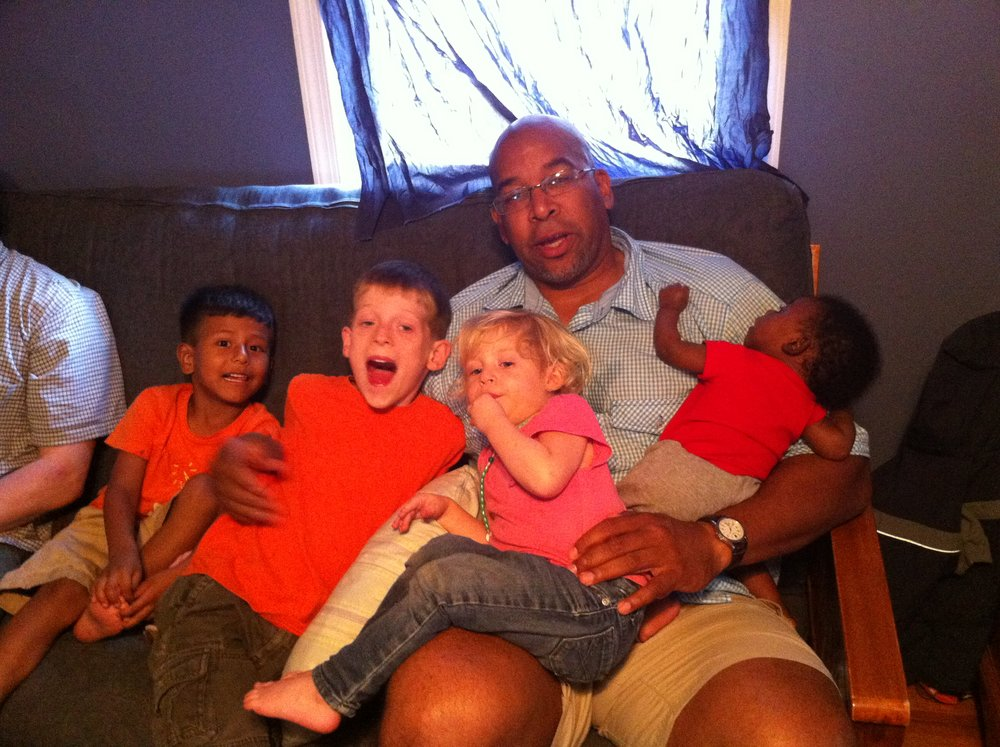 Virginia  - It wasn't easy being a a human jungle gym and a body pillow for 4 beautiful kids in Falls Church, VA but i did it.