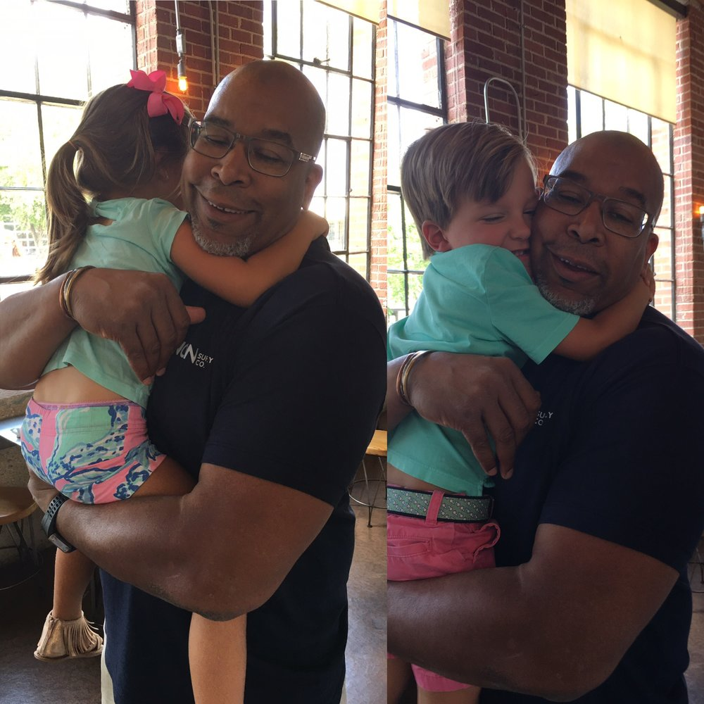 North Carolina  - In Charlotte, i ran into these cute twins.She said that she was the best hugger in the world.He said that he was the best high5'r in the world. They were both right.