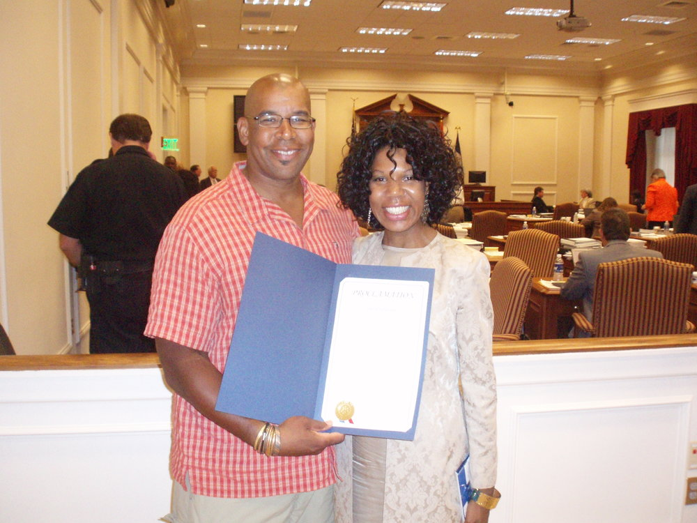 Tennessee - In '08, when biking through Nashville, I met councilmen Erica Gilmore who elected to honor me with a proclamation from the city!