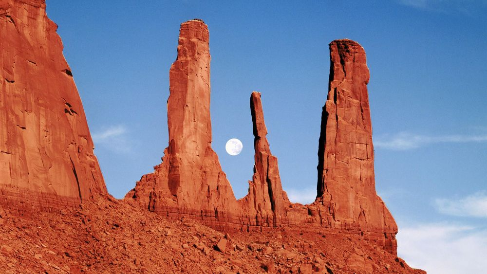 A surreal photograph of Monument Valley, located along the Arizona-Utah border.
