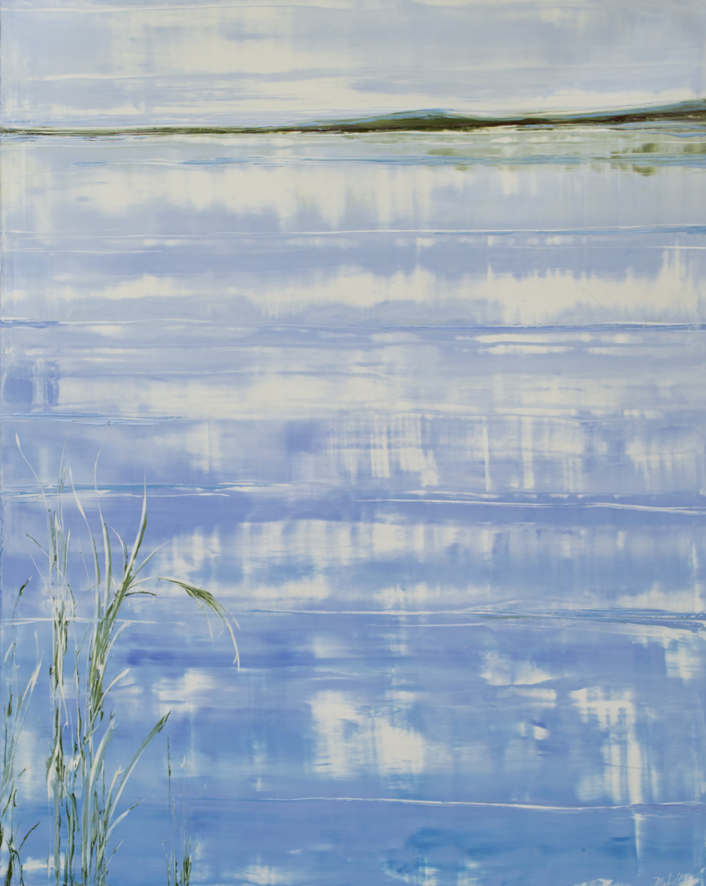 "Mark White, Keys Reflections, oil on panel, 60"" x 48"""