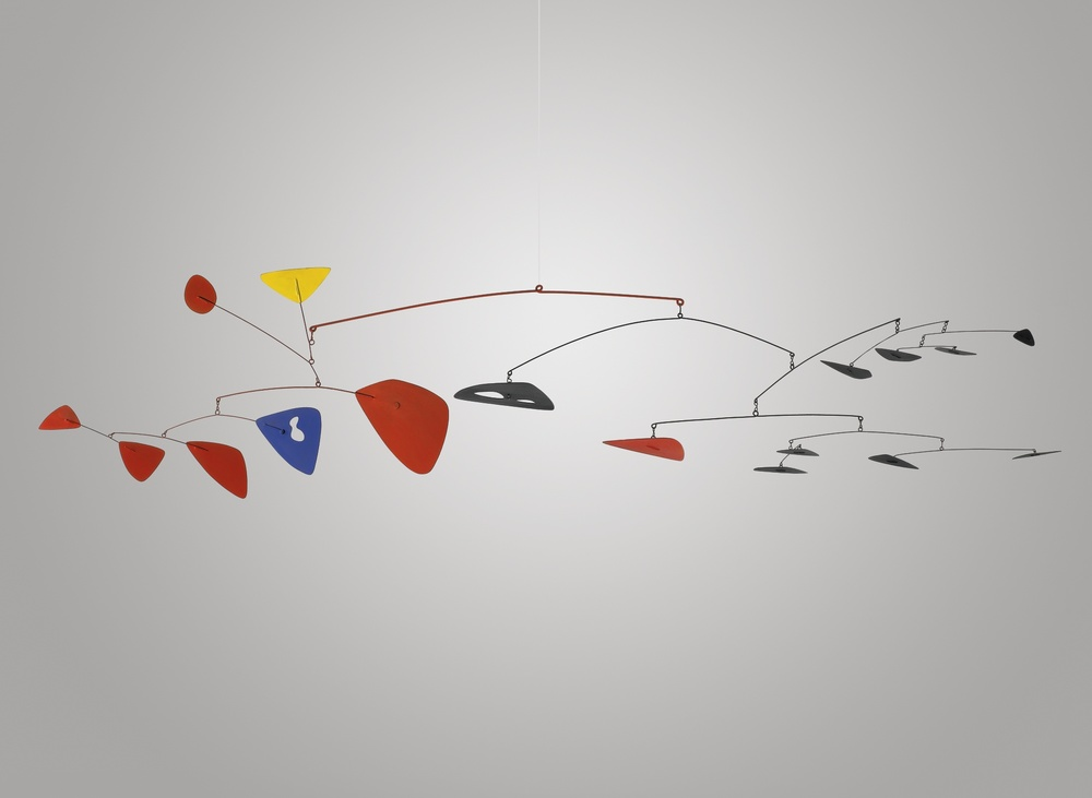 Alexander Calder (1898 - 1976), UNTITLED, painted metal and wire hanging mobile, 24 x 84 x 42 in., 1951