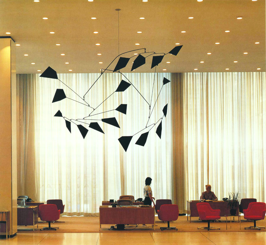 A 1959 Calder mobile at JP Morgan Chase headquarters.