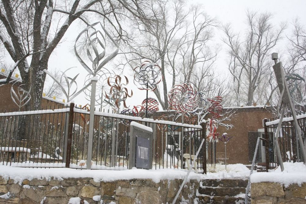 Our Canyon Road sculpture garden turns into a Winter Wonderland come December