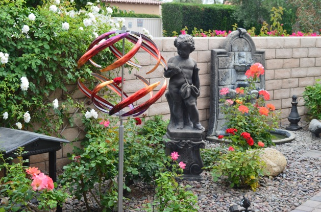 """We received our new Orb 6 sculpture in Fuchsia/Orange Fusion and are very pleased. The quality is excellent and the install was easy. Thanks!"" - Gary & Mary B., Palm Desert, California"