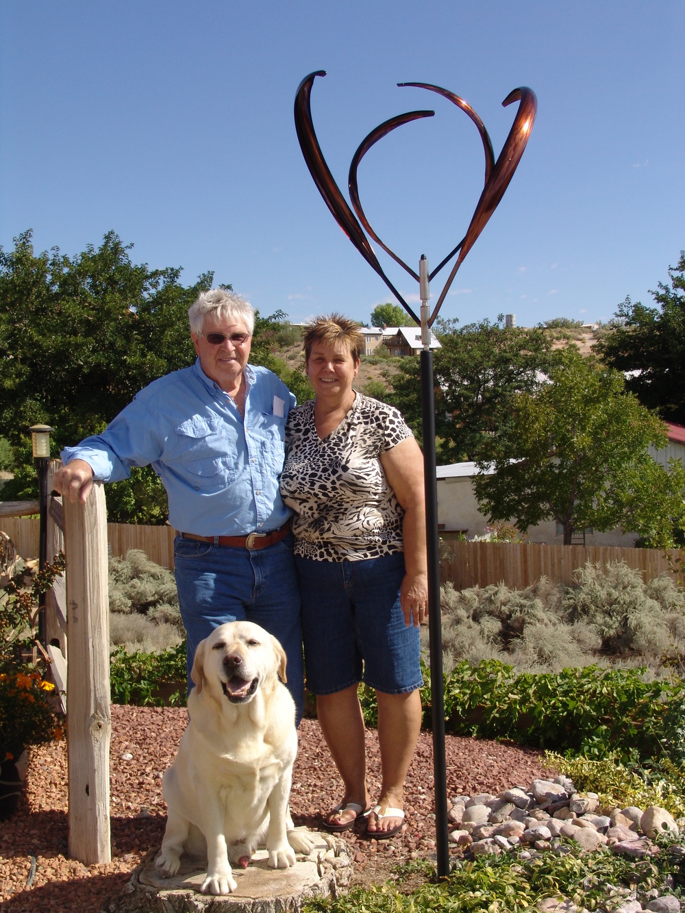 The Boyers with their Blooming Lily 2 (and an adorable pup!) - Corrales, New Mexico