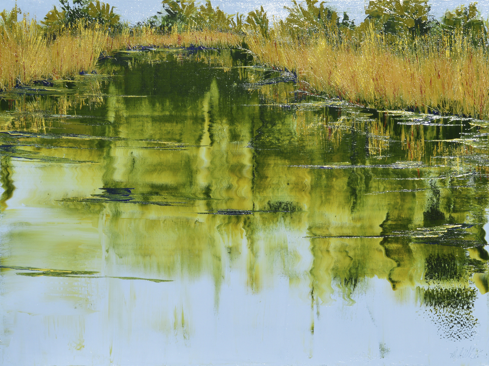 Mark White, Agua Caliente Pond, oil on canvas, 30 x 40 inches, $4,800