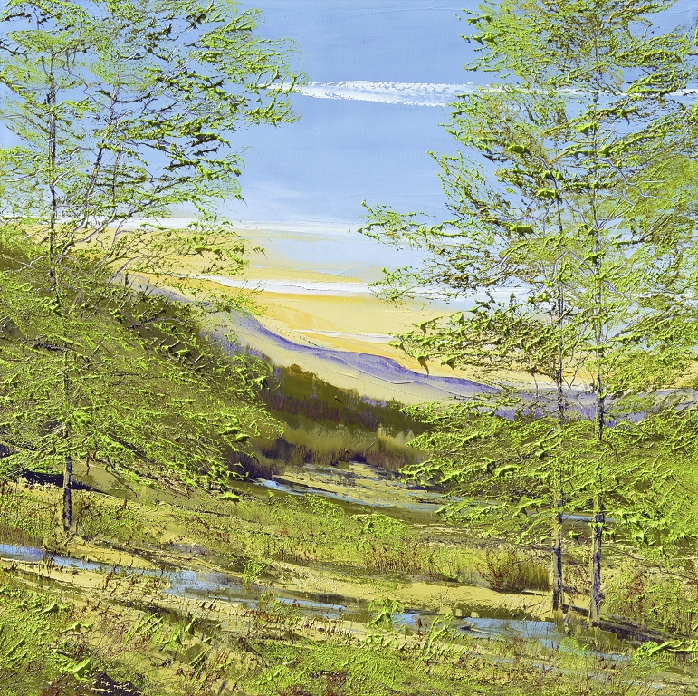 Mark White, Spring Green, Oil on canvas