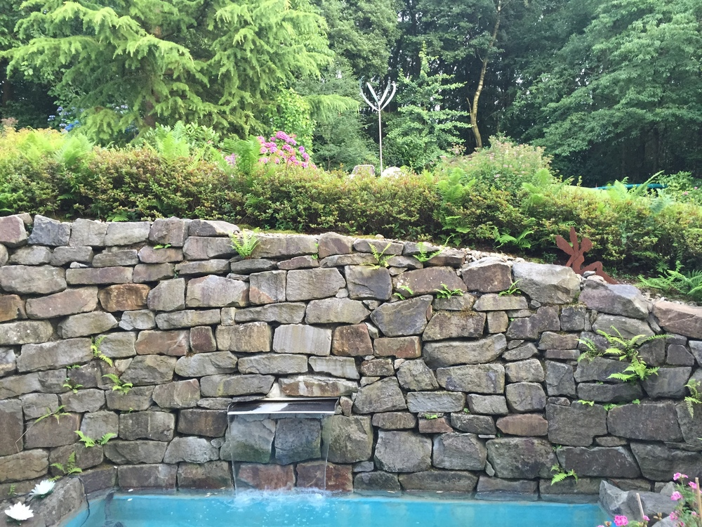 Our Blooming Lily 2 elegantly complements this private pool - from a client in rural Germany!