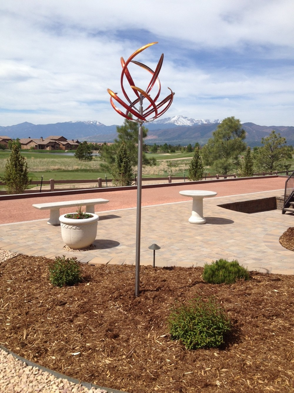 Just installed our Passion Flower wind sculpture. The installation was easy! We love it. Thanks so much. - Bert C., Colorado Springs, CO