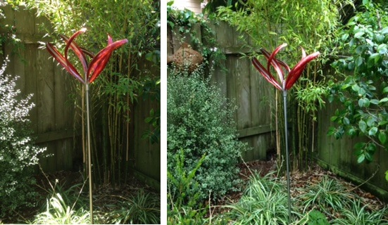 The Iris 6 is awesome. It is perfect for my garden. It brings all the other elements into harmony and since we almost always have wind it is constantly in motion--sometimes gentle, sometimes lively. - Charlotte C., San Francisco, CA
