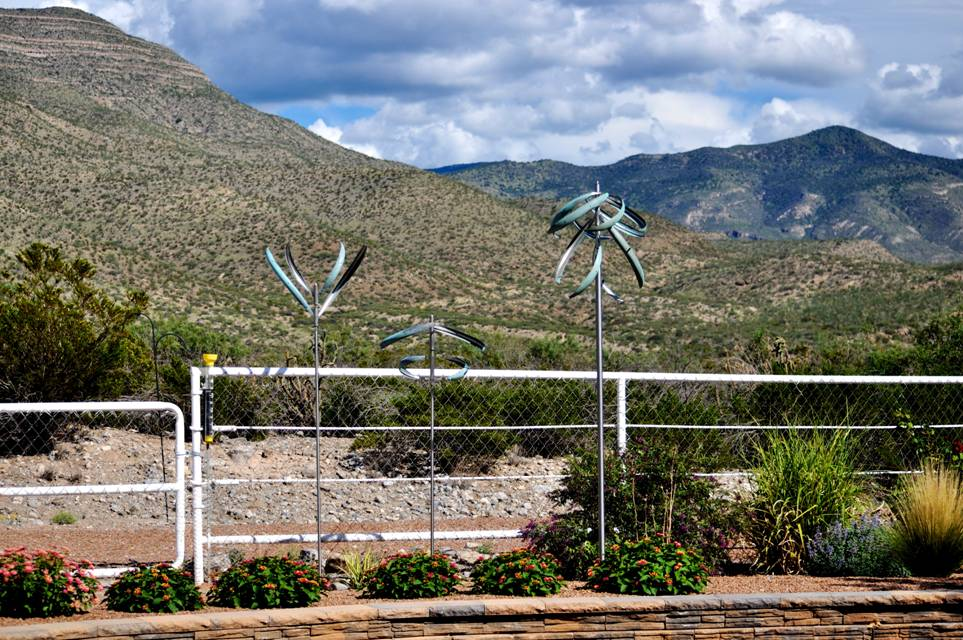 A gorgeous arrangement of wind sculptures in central New Mexico.